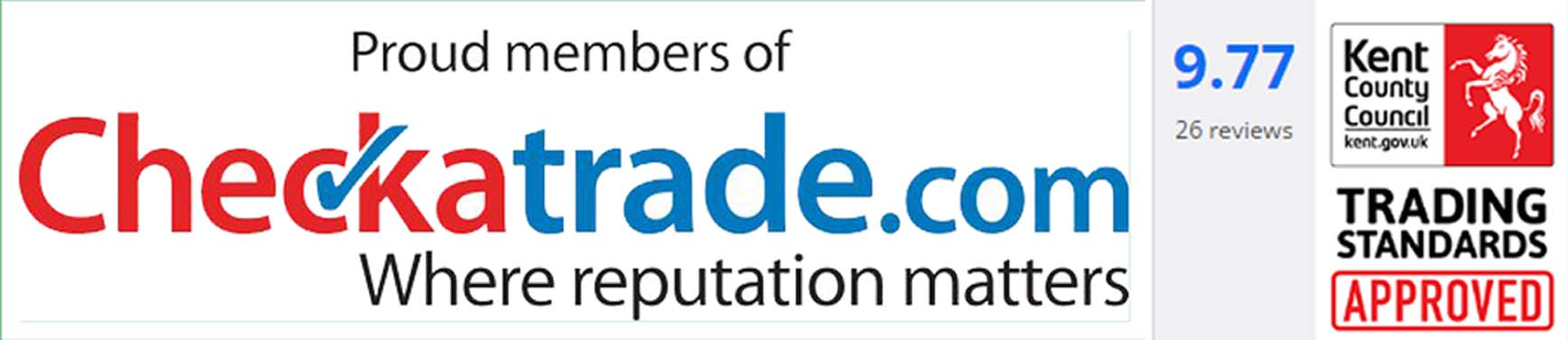 Checkatrade logo and score