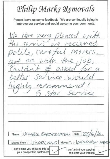 """5 Star service"""