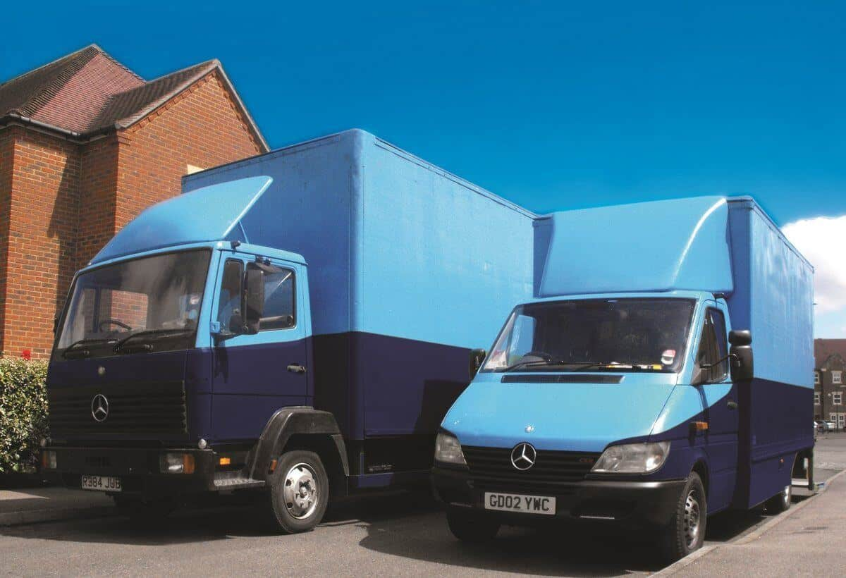 removals van and lorry